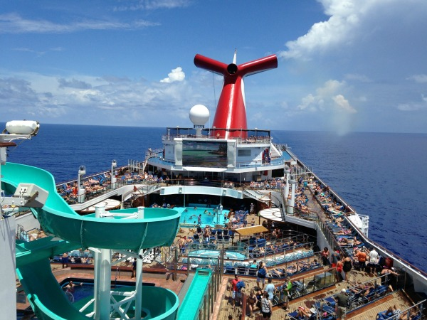 Carnival Freedom Lido Deck View