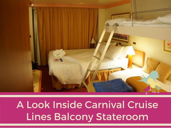 A Look Inside Carnival Cruise Lines Balcony Stateroom Carrie On Travel