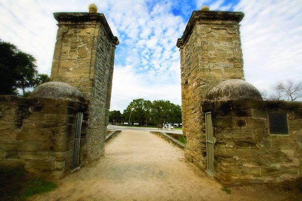 St. Augustine City Gate credit Glenn Hastings FloridasHistoricCoast