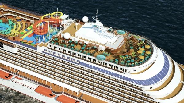 Carnival Vista Overhead View - IMAX Theatre Inside