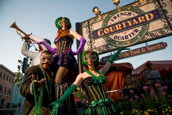 Mardi Gras Universal Orlando French Quarter Courtyard
