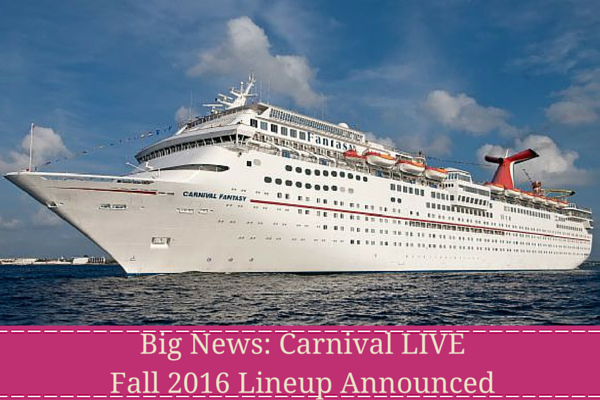 Big News- Carnival LIVE Fall 2016 Lineup Announced - blog