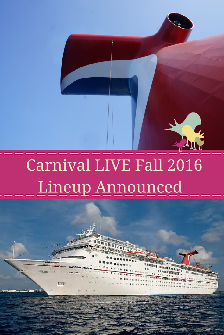 The Carnival LIVE Fall 2016 includes Jim Gaffigan, Sam Hunt and Chris Tucker