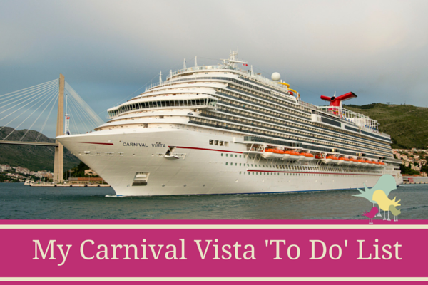 Carnival Vista Things to Do