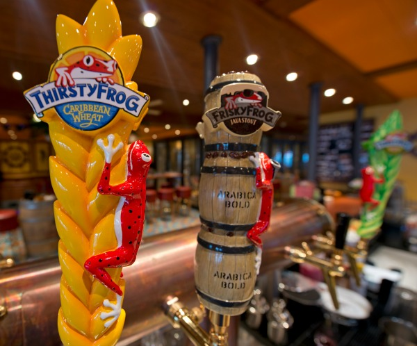 Carnival Vista RedFrog Pub & Brewery - Beer Taps - Credit Andy Newman