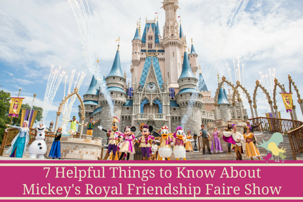 Mickey's Royal Frienship Faire Show - blog