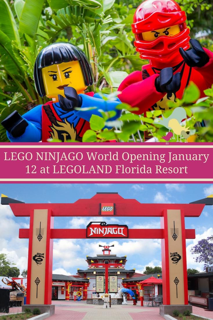 #LEGO #NINJAGO World Opens January 12 at LEGOLAND Florida Resort