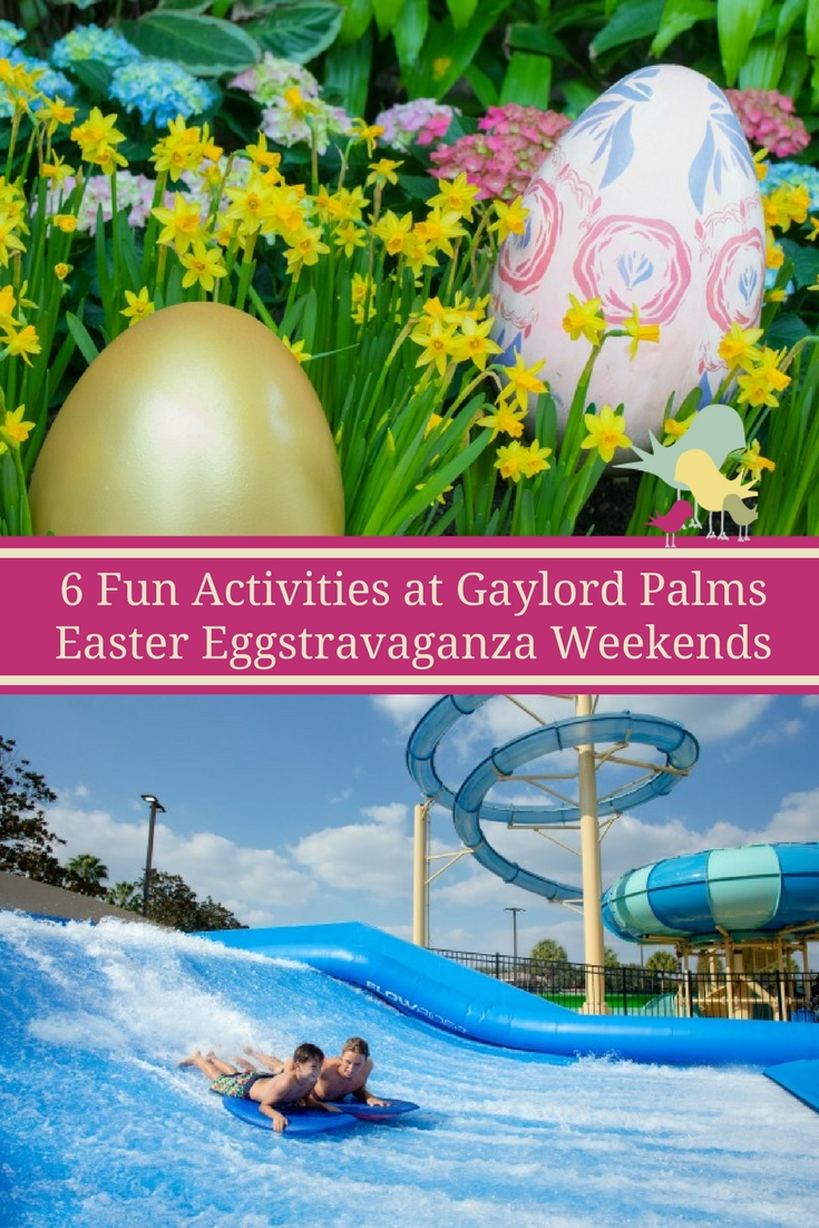 Experience new activities and events weekends in April 2017 at the Gaylord Palms Easter Eggstravaganza Weekends. Easter egg hunts, character meals, shows, crafts and water fun.