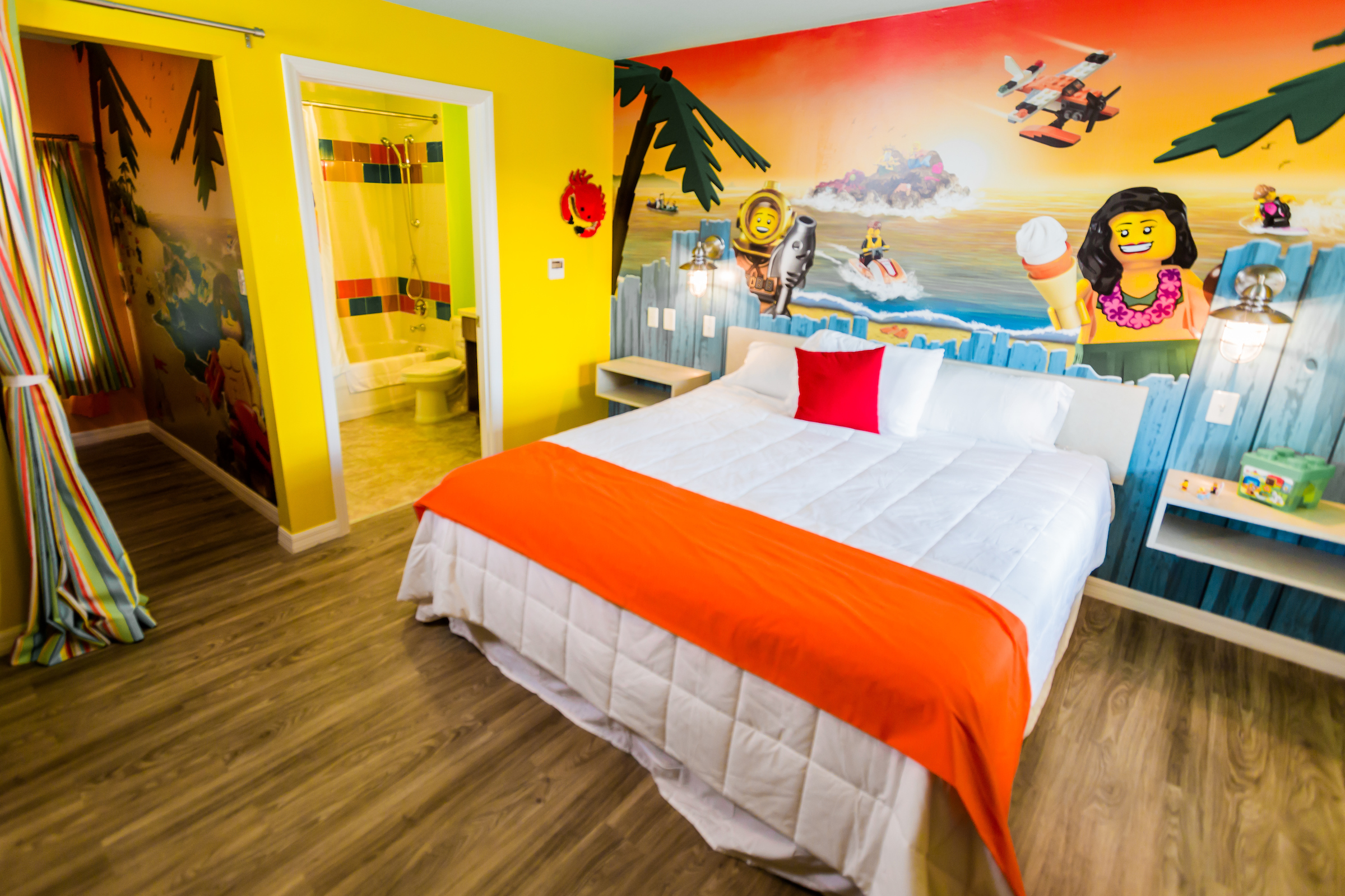 A look inside the new legoland beach retreat carrie on for Castle haven cabins
