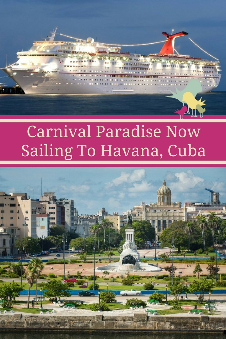 Carnival Paradise Departs on First-Ever Voyage To Havana, Cuba #CruisingCarnival