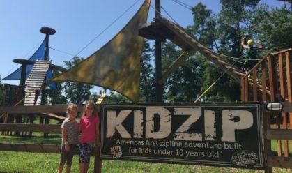 Asheville Adventure Center - KidZip Sign