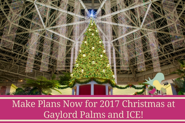 Make Plans Now for 2017 Christmas at Gaylord Palms and ICE! - blog