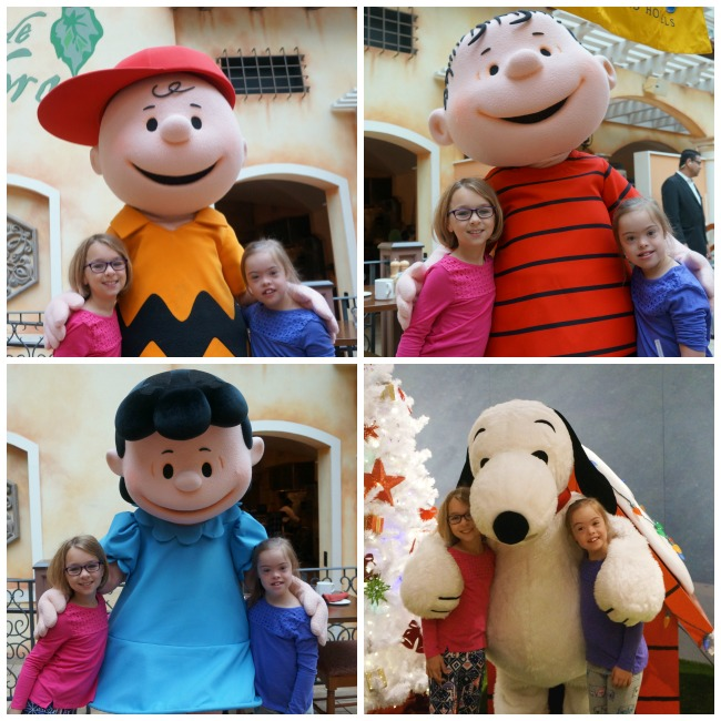 Gaylord Palms Snoopy and Friends Breakfast Collage