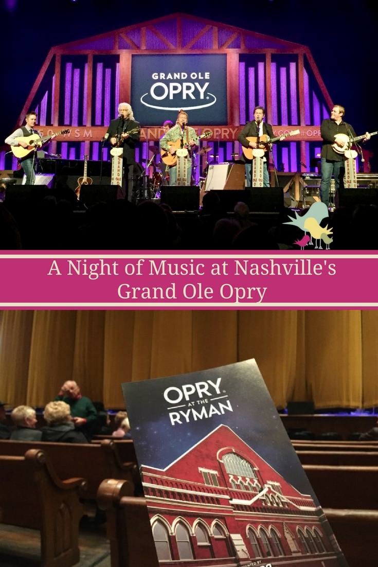 A look at a night of music at Nashville's Grand Ole Opry at the Ryman Auditorium