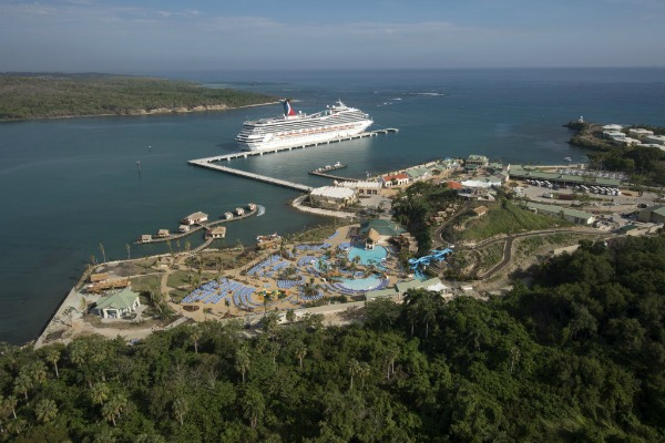 Amber Cove Aerial with Carnival Victory