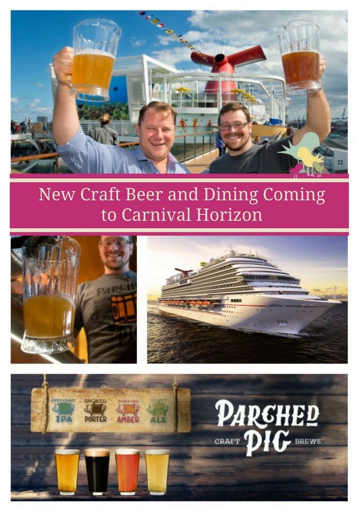 New Craft Beer and Dining Coming to Carnival Horizon   #CruisingCarnival #CarnivalHorizon