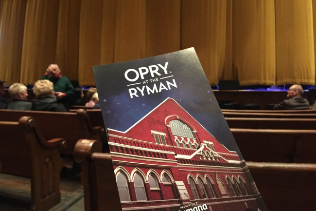 Opry Program with Ryman Curtain