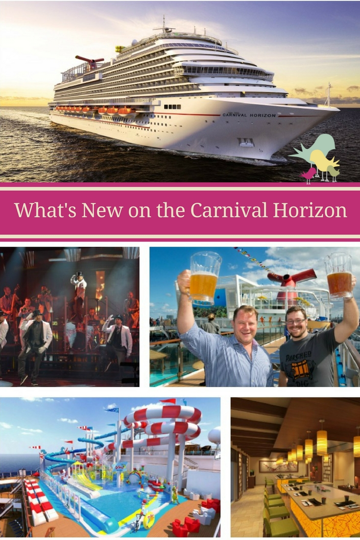 What's New on the Carnival Horizon: Take a look at the new dining, nightlife and entertainment options available from Carnival Cruise Line's newest ship - Carnival Horizon. #CruisingCarnival #CarnivalHorizon