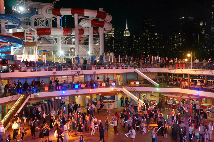 Carnival Horizon Naming Ceremony Lido Deck Party