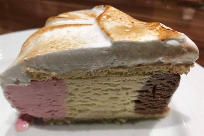 Baked Alaska Dessert - credit Doug Parker CruiseRadio