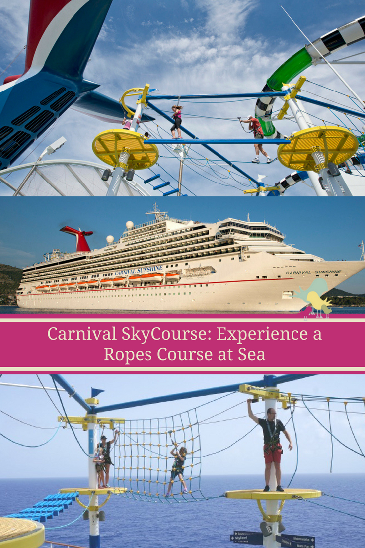 Carnival SkyCourse: Things to Know About the Ropes Course at Sea ---  #CruisingCarnival #CarnivalCruise #Cruise