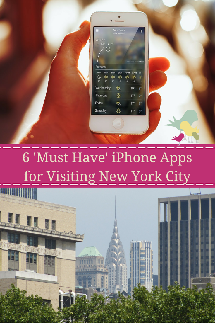 6 'Must Have' iPhone Apps for Visiting New York City  #newyorkcity #nyc #travel