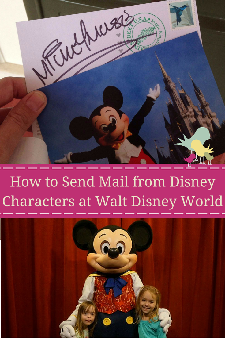 Send postcards autographed by your favorite Disney characters while on vacation at Walt Disney World.  #wdw #disneysmmc #disneykids #disney