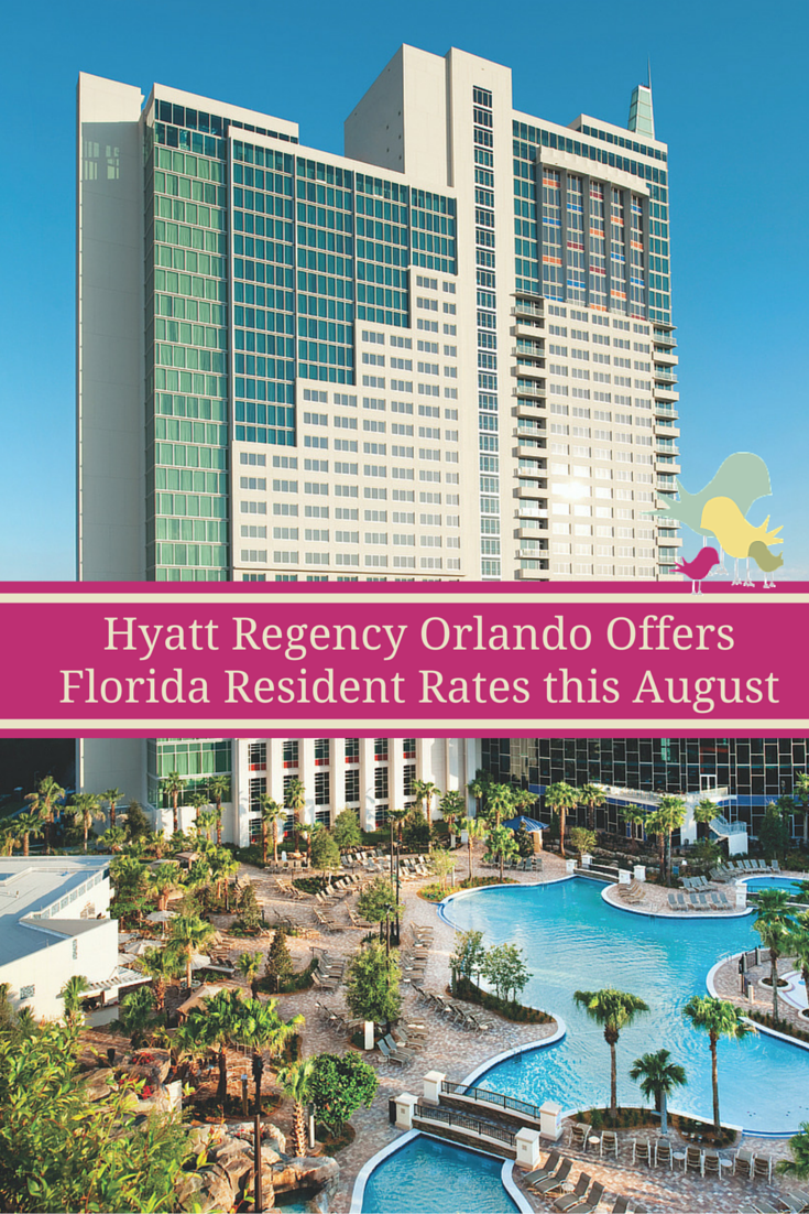 Florida residents - take advantage of special rates at the Hyatt Regency Orlando's this August
