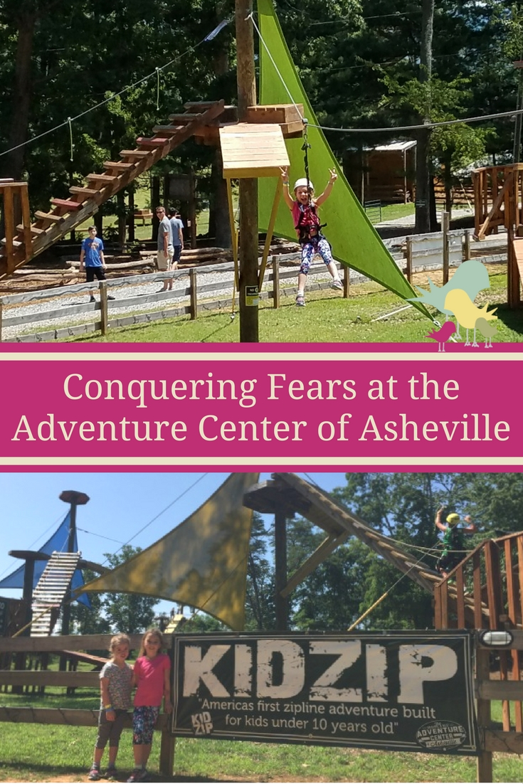 Experience KidZip, the country's first zipline course for kids and Asheville TreeTops Adventure Park at the Adventure Center of Asheville, North Carolina.  #visitasheville #avltreetops
