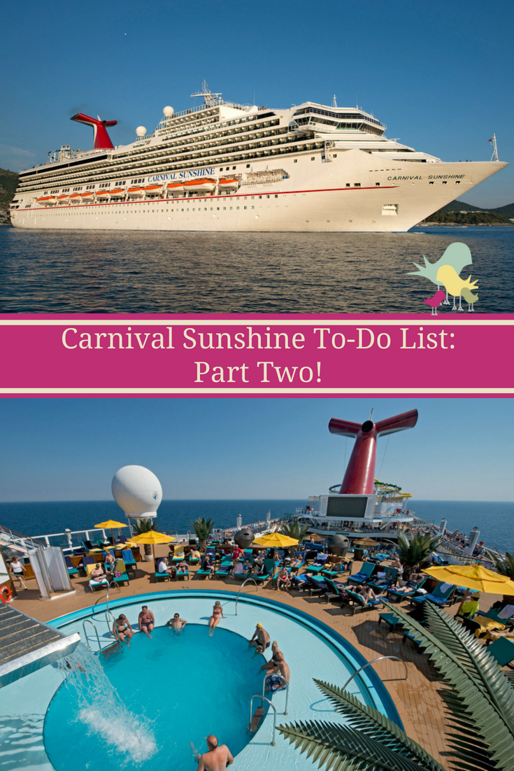 Things to Do on the Carnival Sunshine  #CruisingCarnival #CarnivalSunshine #Cruise