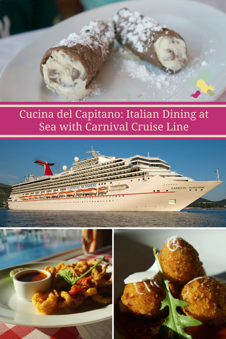 Italian dining at sea? You\'ll get just that at @CarnivalCruise Cucina del Capitano  #CruisingCarnival