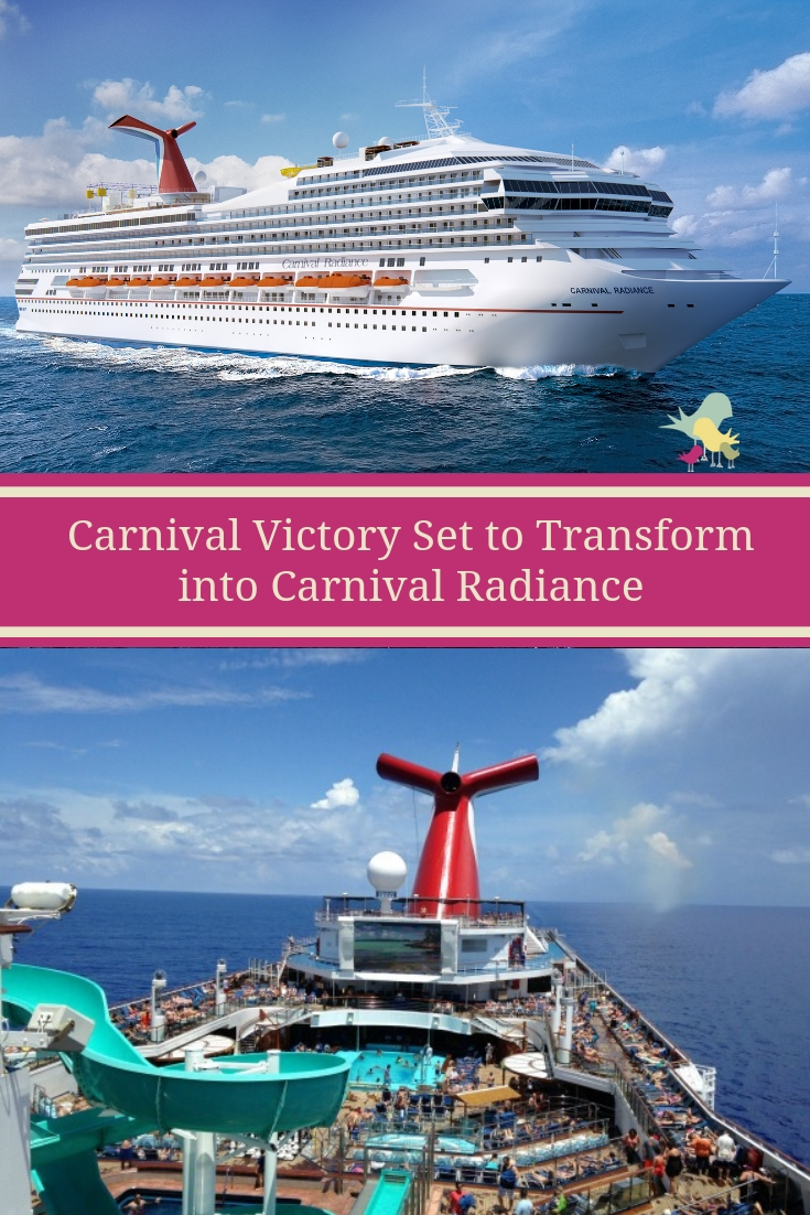 Carnival Victory Set to Transform into Carnival Radiance