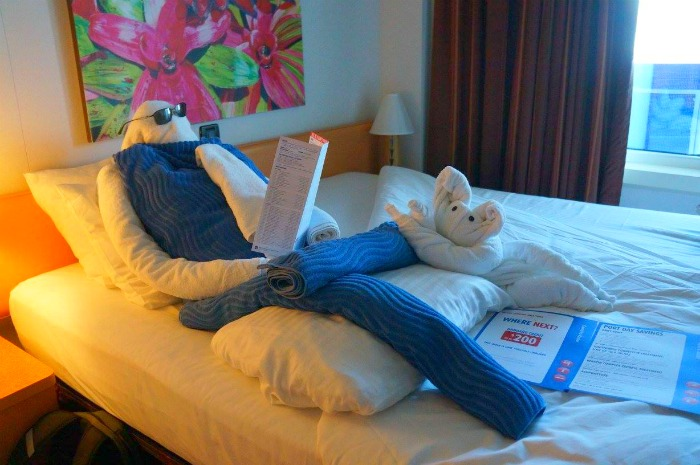 Carnival Cruise - Towel Animals in Stateroom