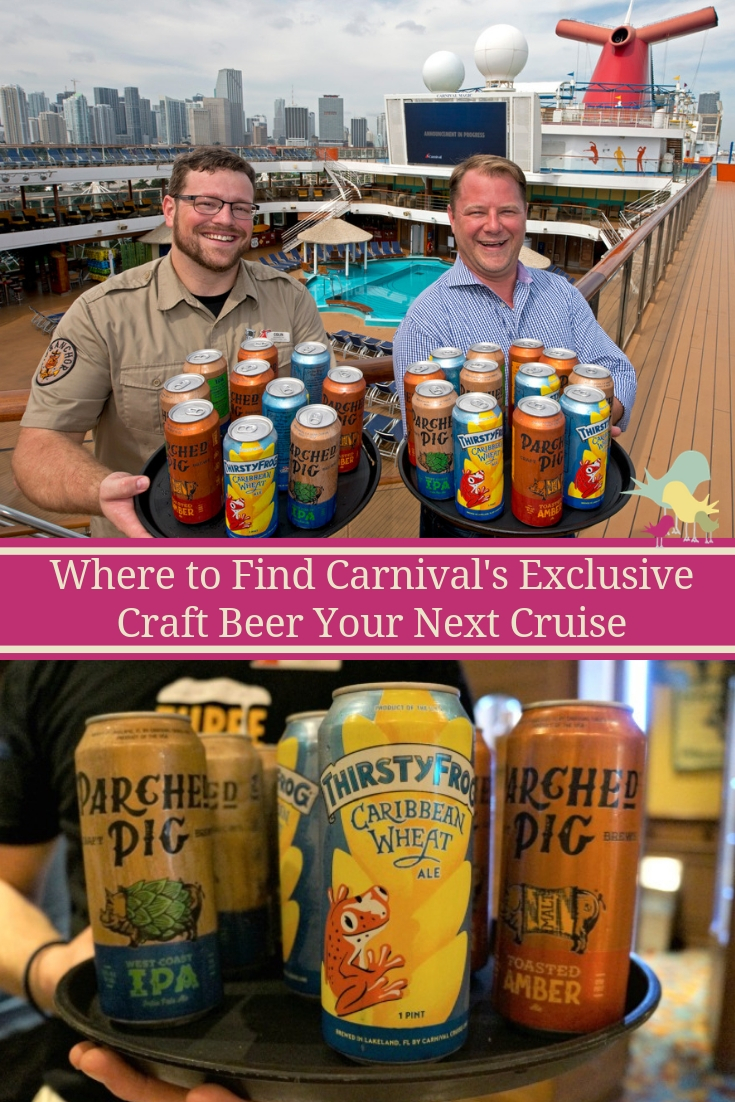 Carnival First Cruise Line To Can And Keg Its Own Craft Beers